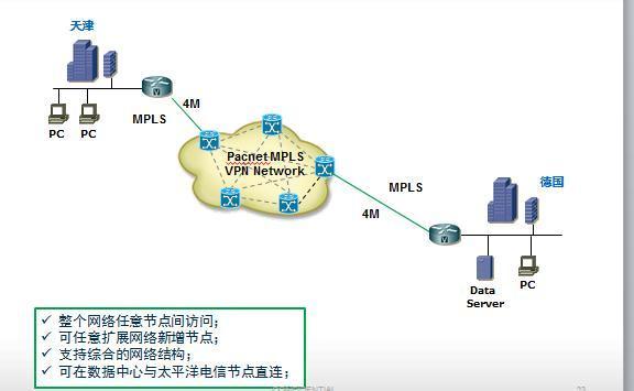 天津-德国MPLS VPN拓扑案例