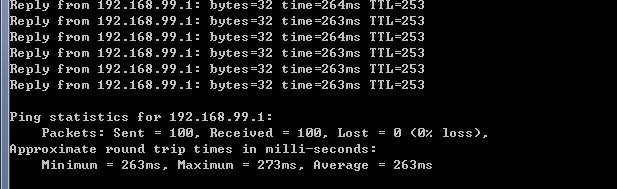 北京-美国MPLS VPN企业专线Ping测试截图