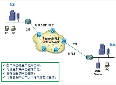 北京-美国MPLS VPN企业专线案例